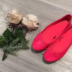 🔴 $5!!🔴 H&M Hot Pink Ballet Flats